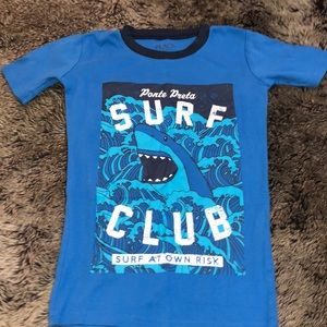 NWT The Childrens Place Glow-In-The-Dark Surf Life Boys Short Sleeve Pajamas Set